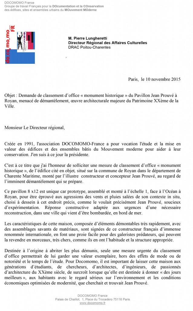 lettre Agnès Cailliau -1